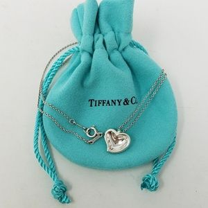 Retired Tiffany & Co Concave Heart necklace 16""